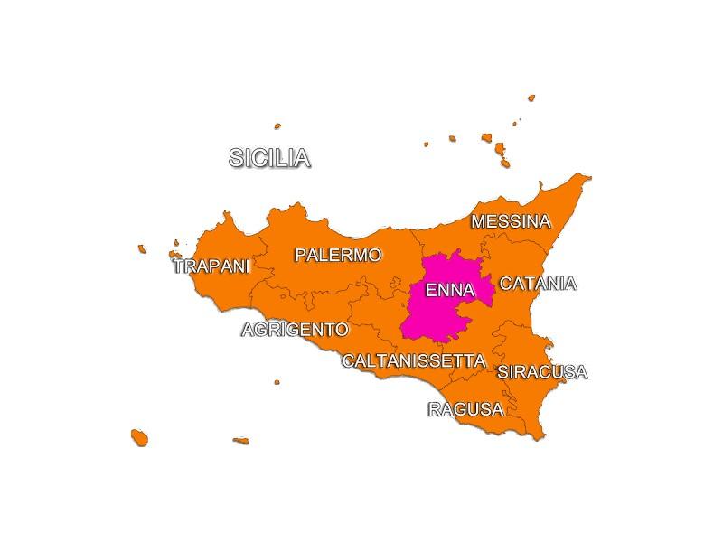 Cartina Sicilia Enna.Enna Carretto Siciliano